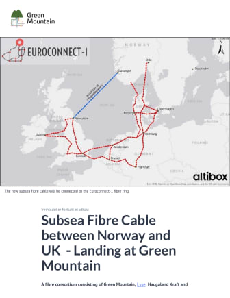 Subsea Fibre Cable between Norway and UK  - Landing at Green Mountain