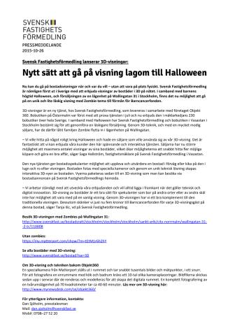 Nytt sätt att gå på visning lagom till Halloween - vågar du hälsa på hos familjen Zombie?