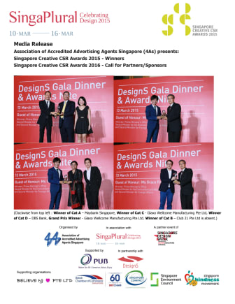 Singapore Creative CSR Awards 2015/6