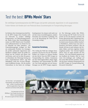 Test the best: BPWs Movin' Stars
