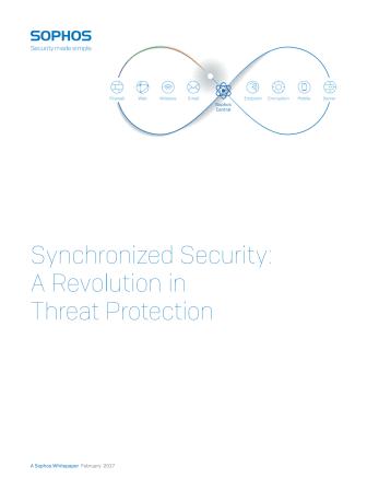 Synkroniserad säkerhet revolutionerar skyddet mot cyberhot – Whitepaper