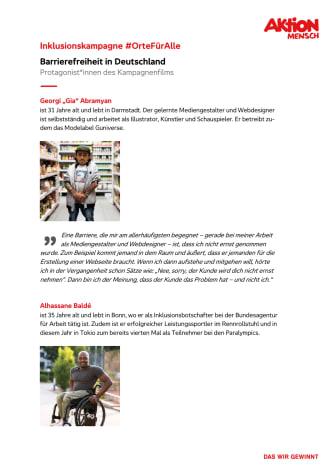 #OrteFürAlle - Protagonist*innen des Kampagnenfilms