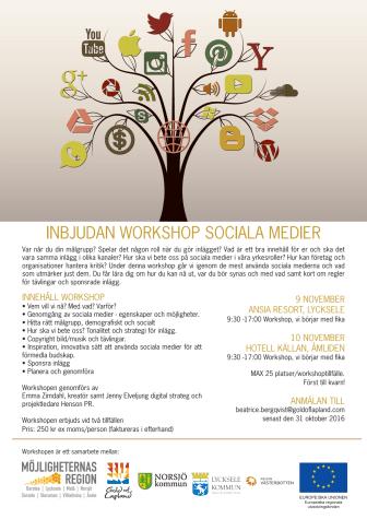 Inbjudan till Workshop i sociala medier