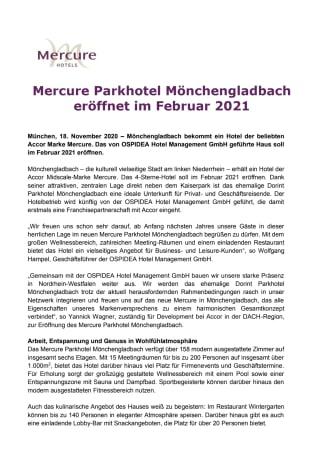 PM Mercure Parkhotel Mönchengladbach