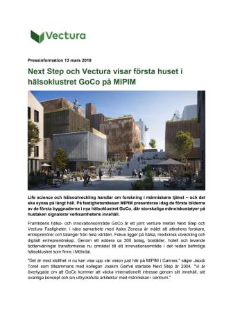 Next Step och Vectura visar första huset i hälsoklustret GoCo på MIPIM