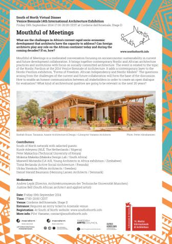 Mouthful of Meetings, seminar 19 September, Venice Biennale