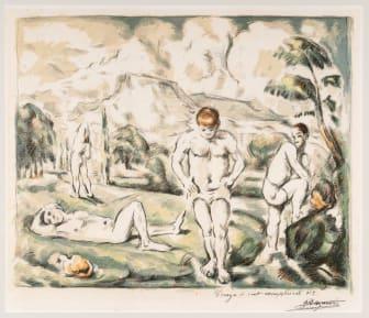 Paul Cézanne: De badende / The Bathers (1898), KODE