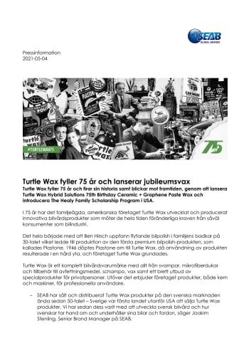 Turtle Wax fyller 75 ar och lanserar jubileumsvax.pdf