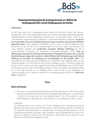 Themeninput Bundesverband der Systemgastronomie zur Bundestagswahl 2021.pdf