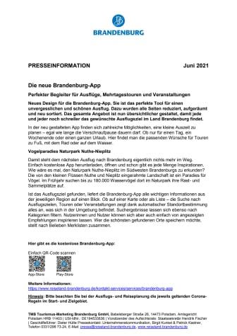Die neue Brandenburg-App