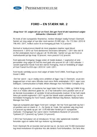 FORD – EN STÆRK NR. 2