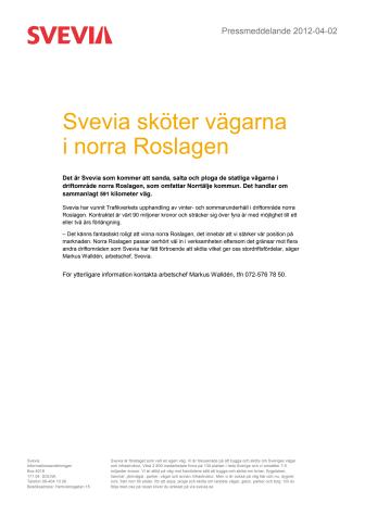 Vägarna i norra Roslagen sköts av Svevia