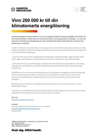 Vinn 200 000 kr till din klimatsmarta energilösning