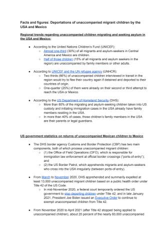 Statistik och fakta - USA och Mexikos återsändande av ensamkommande barn.pdf