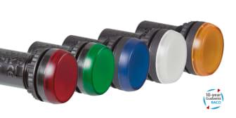 Kompakt signallampa med integrerad LED