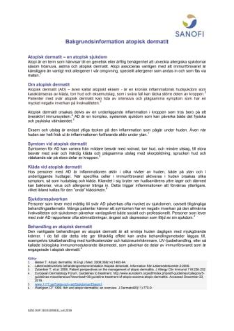 Atopisk dermatit bakgrundsinformation