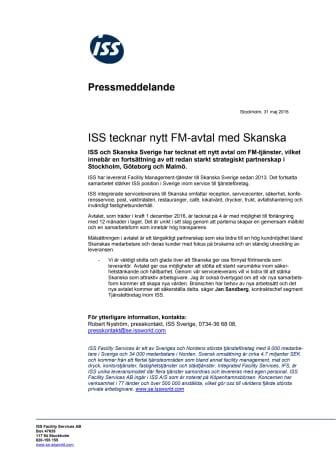 ISS tecknar nytt FM-avtal med Skanska