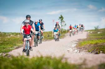 Mange på sykkel i Trysil