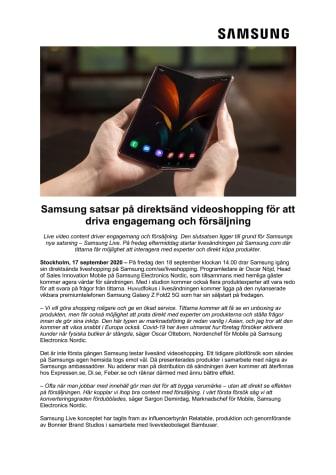 Samsung satsar på direktsänd videoshopping för att driva engagemang och försäljning