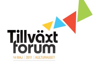 Om några timmar startar Tillväxtforum 2011 på Kulturhuset, ladda ner hela programmet här!