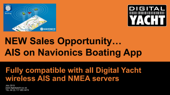Dealer Sales Opportunity - AIS on Navionics Boating App with Digital Yacht