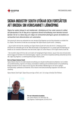 Sigma Industry South utökar och fortsätter att bredda sin verksamhet i Jönköping