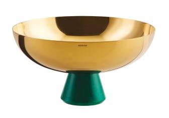 SBT_Madame_Schale_auf_Fuss_20,5cm_PVD_Gold_Kunstharz_Malachit_grün