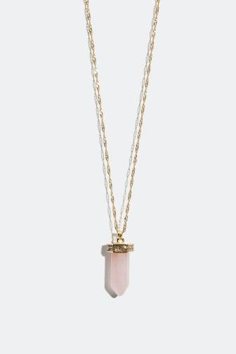 Necklace with semi precious stone - 159 kr