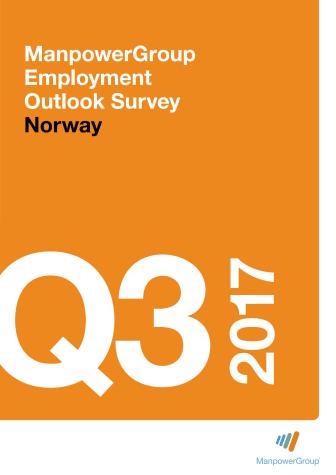 ManpowerGroups arbeidsmarkedsbarometer 3. kvartal 2017