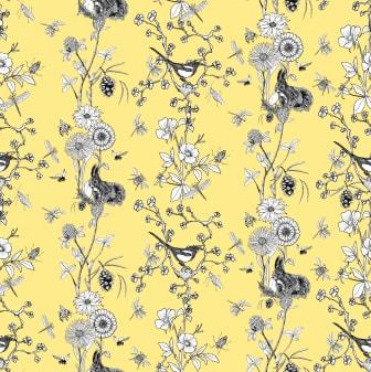 Flower Stripe_90x90cm_Gul kopiera