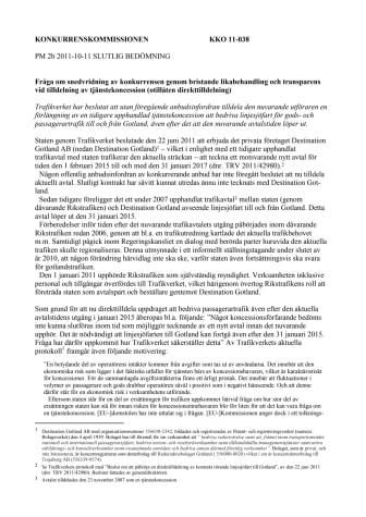 Gotlandstrafiken kan strida mot EU-rätten