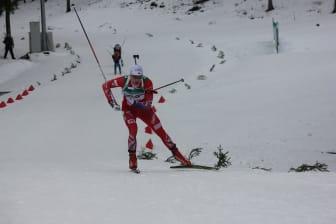 Vemund Ravnsborg Gurigard i løypa, normalprogram menn, Junior-VM Minsk