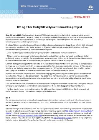 TCS og If har ferdigstilt  vellykket stormaskin-prosjekt