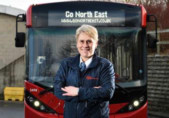Pamela Young, a Go North East bus driver