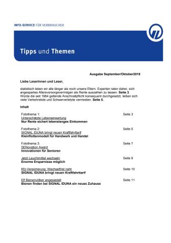 Tipps und Themen 9/10-2018