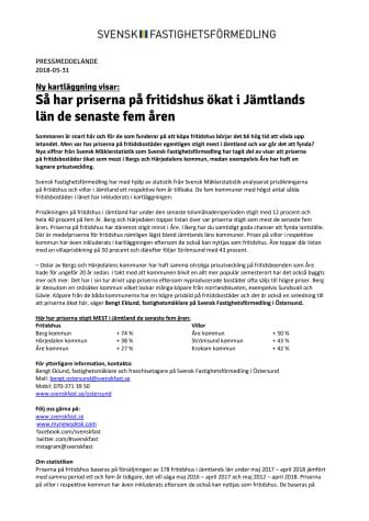 Ny kartläggning visar: Så har priserna på fritidshus ökat i Jämtlands län de senaste fem åren