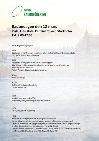 Program för Radondagen 12 mars klart - Anmäl dig här