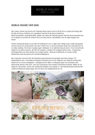 NOBLE HOUSE VÅR 2020