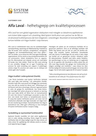 Kundcase Alfa Laval