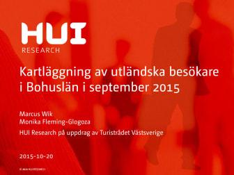 Rapport - utländska besökare i Bohuslän i september 2015