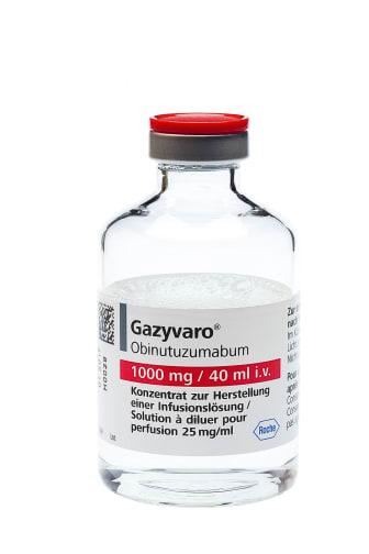 Pressbild Gazyvaro, förpackning 1000 mg / 40 ml i.v