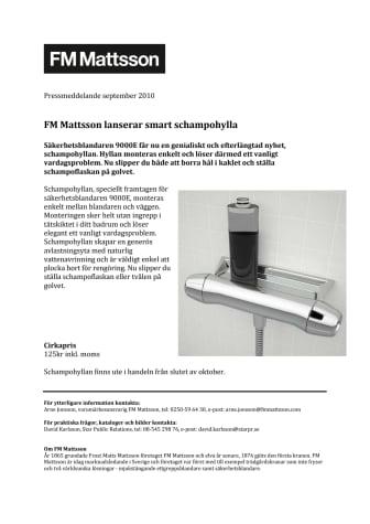 FM Mattsson lanserar smart schampohylla
