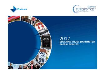Edelman Trust Barometer 2012 Global Results