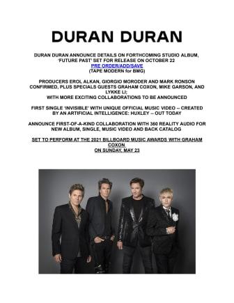 Duran Duran - engelsk pressrelease 2021-05-19