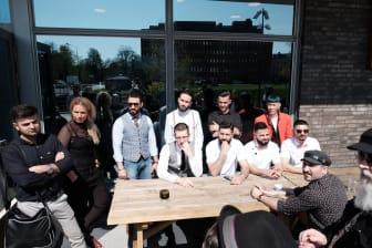 Alla 11 deltagande barberare i semifinalen för Södra Sverige