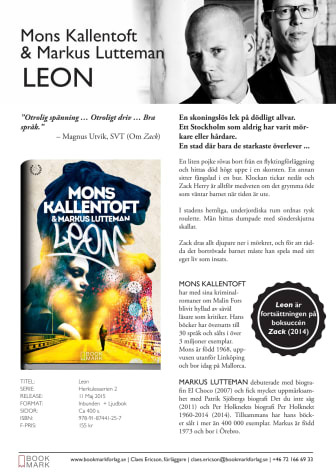 Leon av Mons Kallentoft & Markus Lutteman – Titelpresentation