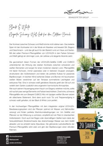 Black & White: Eleganter Schwarz-Weiß-Look für den Outdoor-Bereich