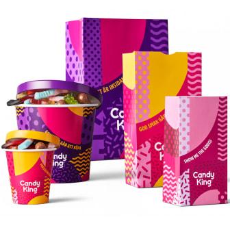 CandyKings förpackningar