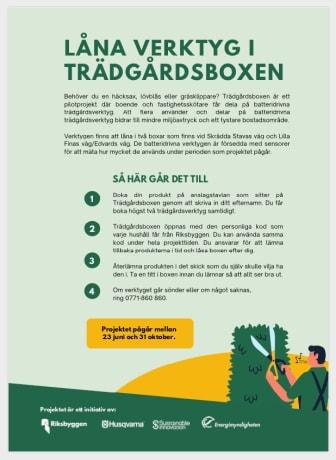 Informationsblad Trädgårdsbox