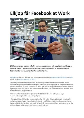 Elkjøp får Facebook at Work
